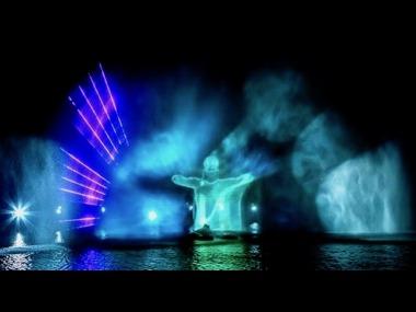 Outdoor Water Wall Eventshow