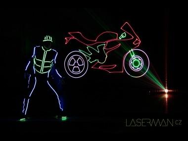 Laser shadows